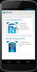 Aplicación móvil ABA NFC