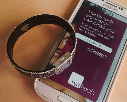 Wetech NFC bracelet