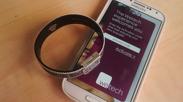 App Wetech con NFC