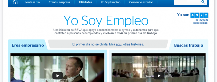 ABAMobile in the advertising campaing of BBVA