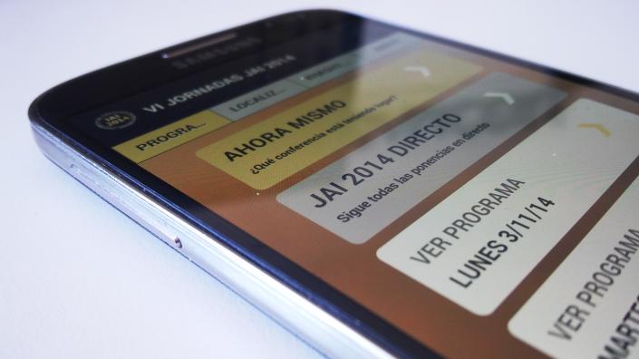 Aplicación móvil VI Jornadas JAI 2014